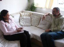 Image of two people in a supervision session.