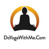 Image of the DoYogaWithMe logo